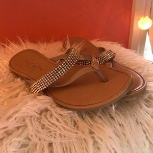 Gem embellished sandals
